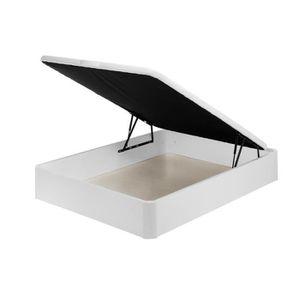 CANAPÉ - SOFA - DIVAN TOP DREAMS BASE DE LIT EN BOIS 120x190 CM Blanc
