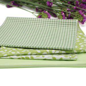 TISSU Floral Plaid Tissu Coton Pour Coudre Patchwork Por