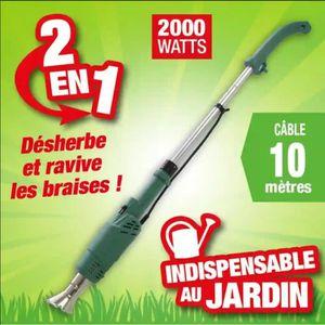 Nouveau Draper électrique 2000 W Herbe brûleur de la Chaussée Brosse Mauvaises Herbes Grattoir