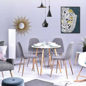 TABLE À MANGER COMPLÈTE MADDIE Table à manger ronde de 2 à 4 personnes sca