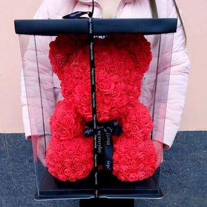 Fleurs stabilisées Ours bear - Vente chaude 2019 40cm