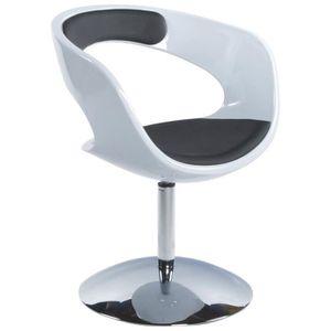 FAUTEUIL Fauteuil design rotatif blanc/noir