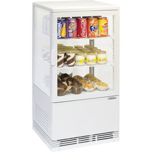 BUFFET RÉFRIGÉRÉ  Mini vitrine réfrigérée positive 58 L