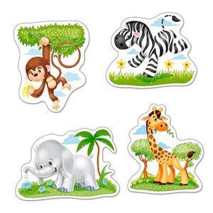 PUZZLE Puzzle évolutif 3 à 9 pièces : Animaux d'Afrique