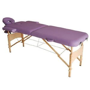 TABLE DE MASSAGE Lit/table de massage pliable en bois 2 zones viole