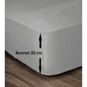 DRAP HOUSSE LOVELY HOME Drap Housse 100% Coton 180x200cm - Bon