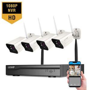 CAMÉRA DE SURVEILLANCE caméra de surveillance kit sans fil extérieur 4CH