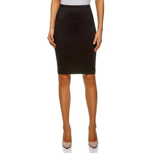 Nouveau Femme Plain Office Stretch Midi Jupe Grande Taille 8-22