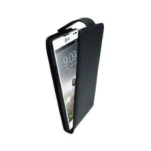 PH26/® Etui housse folio pour LG Optimus L9 2 format portefeuille en /éco-cuir noir avec double clapet int/érieur porte cartes fermeture magn/étique et surpiqures apparentes