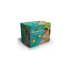 COUCHE 120 Couches Pampers Baby Dry taille 4