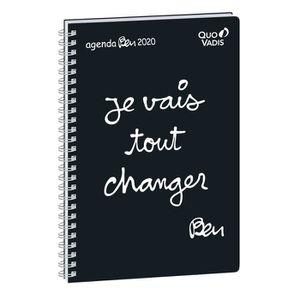AGENDA - ORGANISEUR Agenda semainier 2020 - QUO VADIS - 16 x 24 - Ben