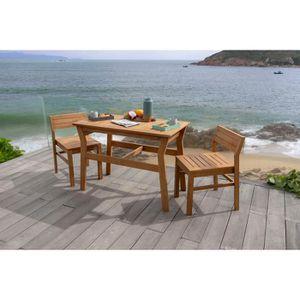 Ensemble table et chaise de jardin Ensemble repas de jardin ou de balcon 2 personnes