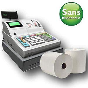Papier thermique sans BPA certifi/é Compatible avec tous les syst/èmes POS Produit certifi/é FSC Rouleau thermique 57 x 18 x 12,7 cm