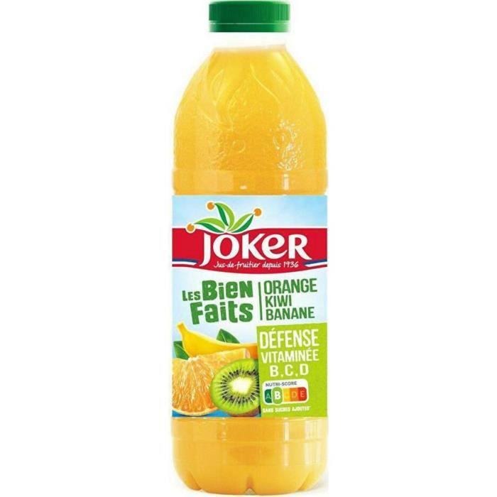 Les Biens Faits Joker Jus défense vitaminée orange kiwi banane 90 cl