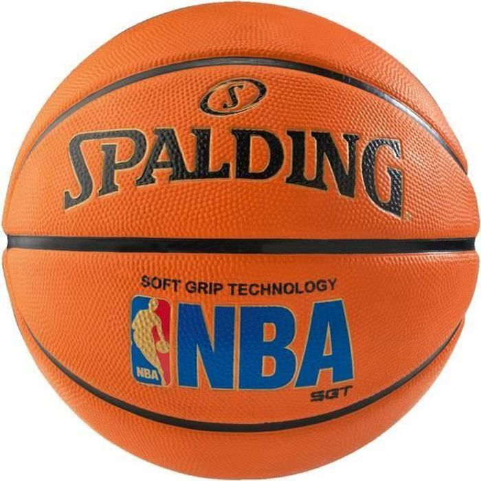 SPALDING Ballon de basket-ball NBA SGT - Taille 7 - Orange