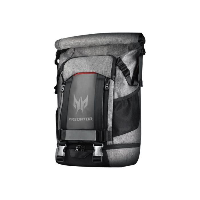 Acer Predator Gaming Rollup Backpack - Sac à dos pour ordinateur portable - 15- - gris, noir, Touches rouges