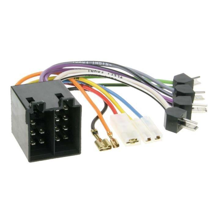 Faisceau autoradio connecteur ISO > DIN plug