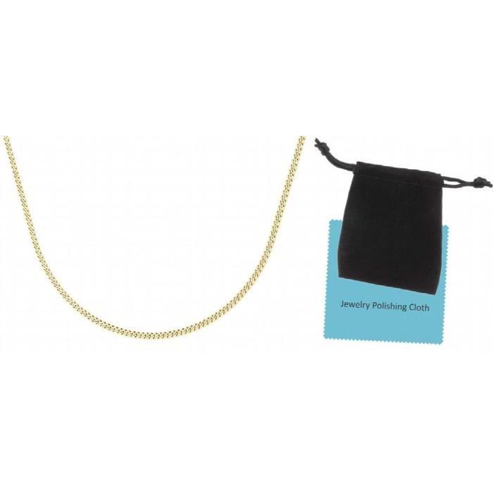 Chaine De Cou Vendue Seule Or rempli Chaînette plat de 1mm de femmes, 17.7- mince anti-ternissement poche et Mini Bijoux WHT6S