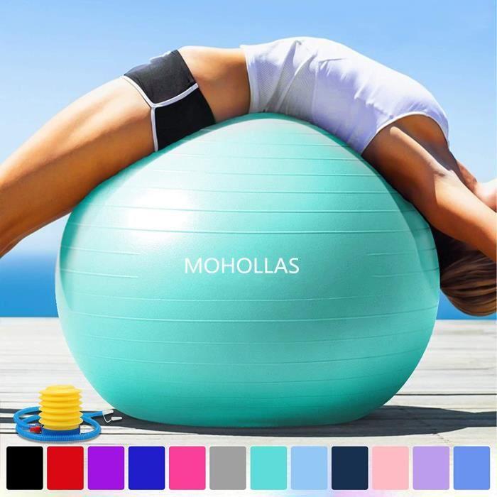 Balle Fitness 65 cm Anti-éclatement Anti-dérapant Yoga Swiss Ball Accouchement Balle Rapide Pompe Fitness Gym Yoga