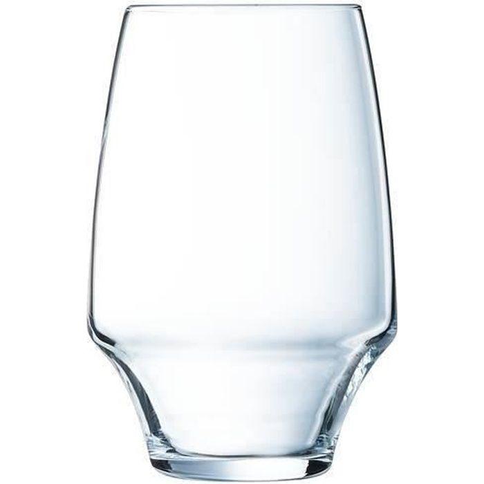 6 verres à eau 35cl Open Up - Chef&Sommelier - Cristallin design original 30% plus résistant
