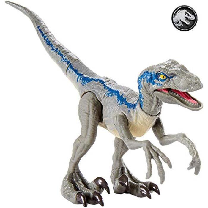 Figurine Miniature I3OBN Jurassic monde sauvage Grève Velociraptor bleu