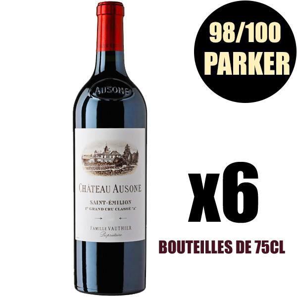 X6 Château Ausone 2009 75 cl AOC Saint-Emilion Grand Cru 1er Grand Cru Classé A Vin Rouge