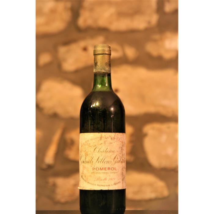 Vin rouge, Pomerol, Château Grands Sillons Gabachot 1979 Rouge