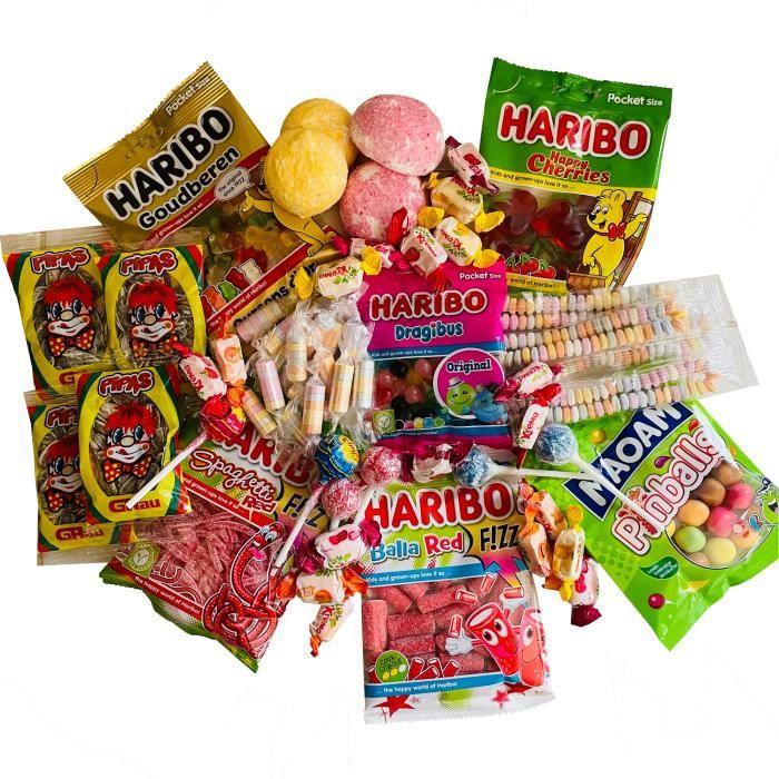 Box à bonbons - assortiment de confiseries - 59 pièces