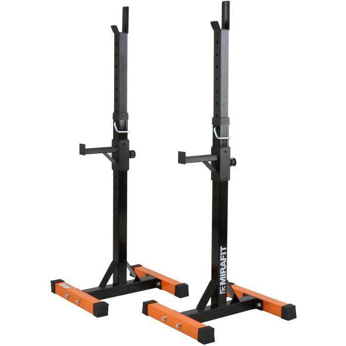 Mirafit rack à exercice Supports de Squat Réglable Avec Barres Attrape