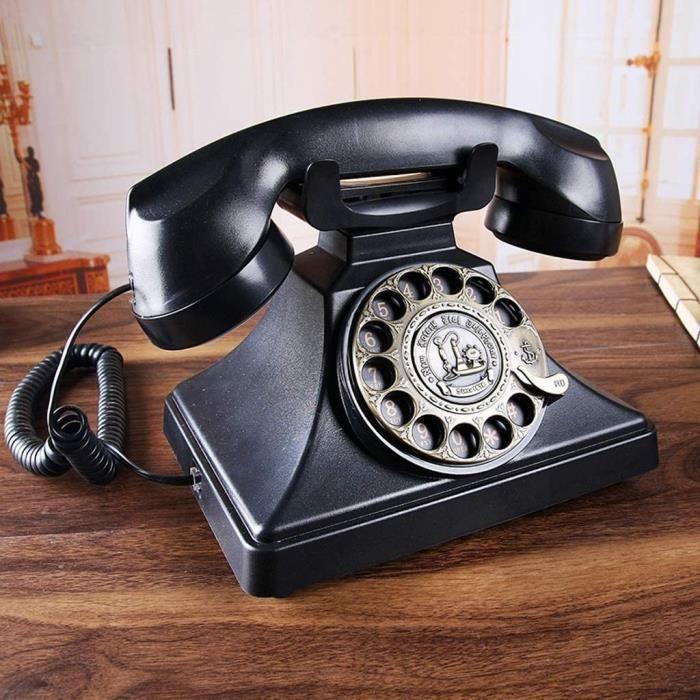 TELEPHONE FIXE ieux Style europeacuteen Antique Teacuteleacutephone Retro Teacuteleacutephone Fixe Inteacuterieur Teacuteleacute717