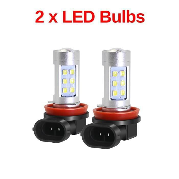 Angel Eye – phare antibrouillard pour voiture, anneau DRL pour Ford Focus Fusion Fiesta Ec -2 Pieces LED Bulbs