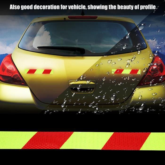 Tbest bande réfléchissante de voiture Autocollant réfléchissant de bande d'avertissement de 5 cm * 3 m pour l'automobile de