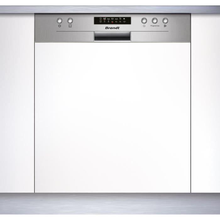 Lave-vaisselle encastrable BRANDT LVE134X - 13 couverts - 44dB - Silver