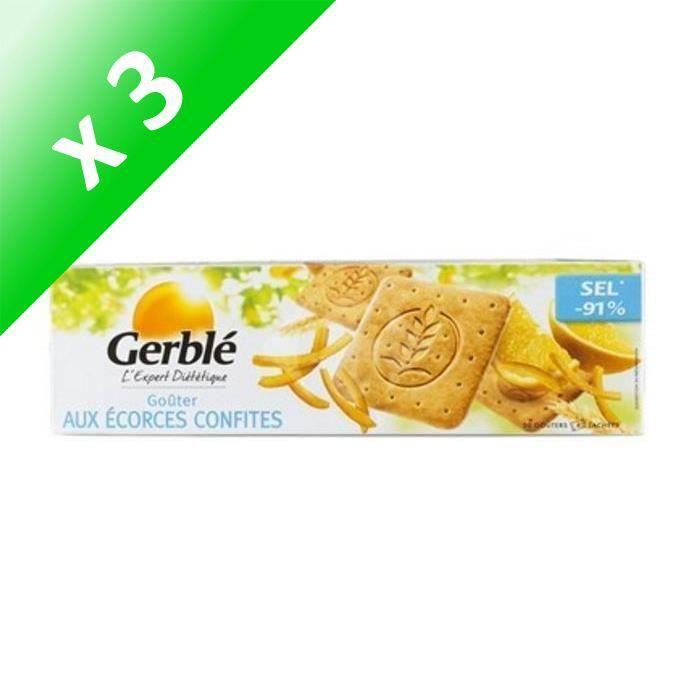 [LOT DE 3] Biscuit écorces confites 360g Gerblé
