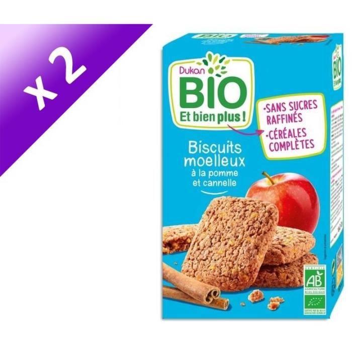 [LOT DE 2] Biscuits moelleux Bio à la pomme et cannelle 150g