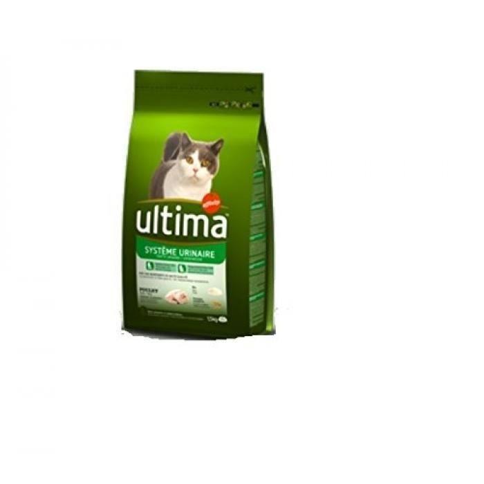 [Lot de 3] ULTIMA Croquettes système urinaire au poulet - Pour chat - 3 x 1,5 kg