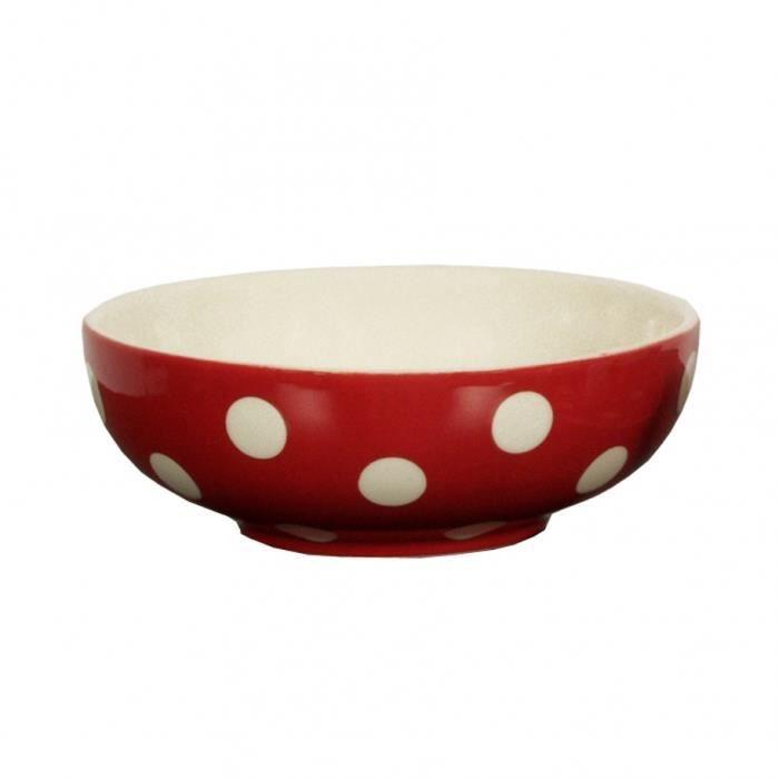 Bol céréales pois 16.5 cm rouge - Déjeuner Sur L'herbe Rouge