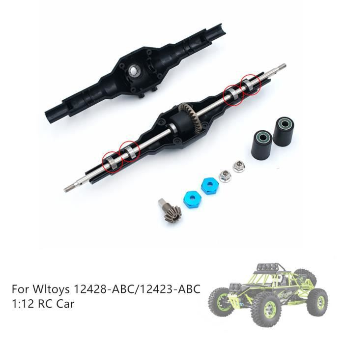 Mise à niveau de la boîte de vitesses arrière en métal pour la voiture Wltoys 12428-ABC-12423-ABC n7918