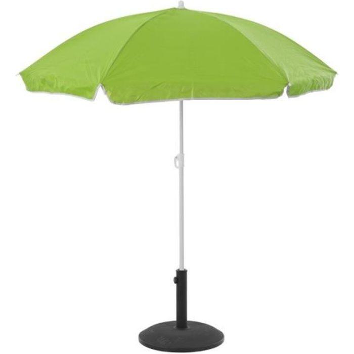 Parasol de plage anti-UV - L 140 cm x H 175 cm - Vert