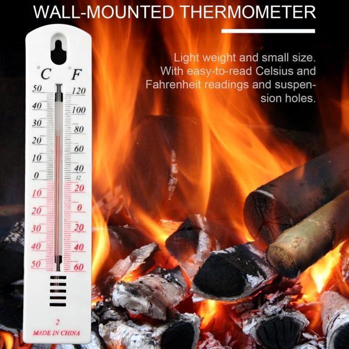 Thermomètre suspendu pour extérieur ou intérieure Jardin Garage Maison Bureau