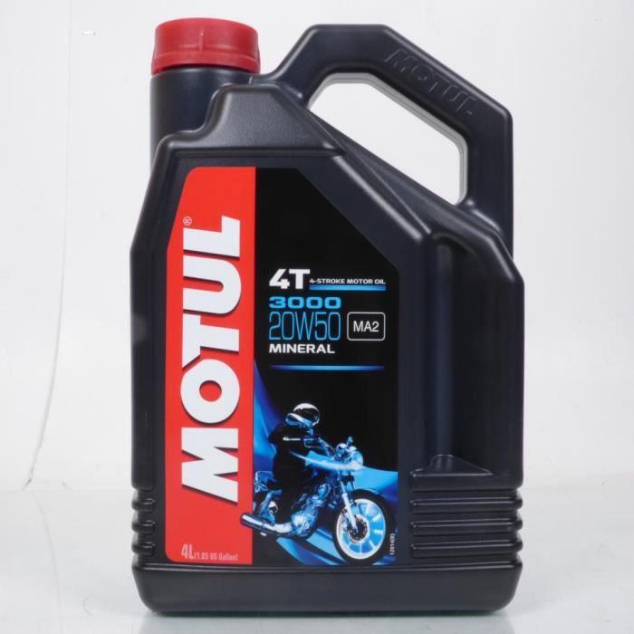 Huile Motul 20W50 Mineral 3000 pour moteur 4T pour Harley-Davidson en 4L