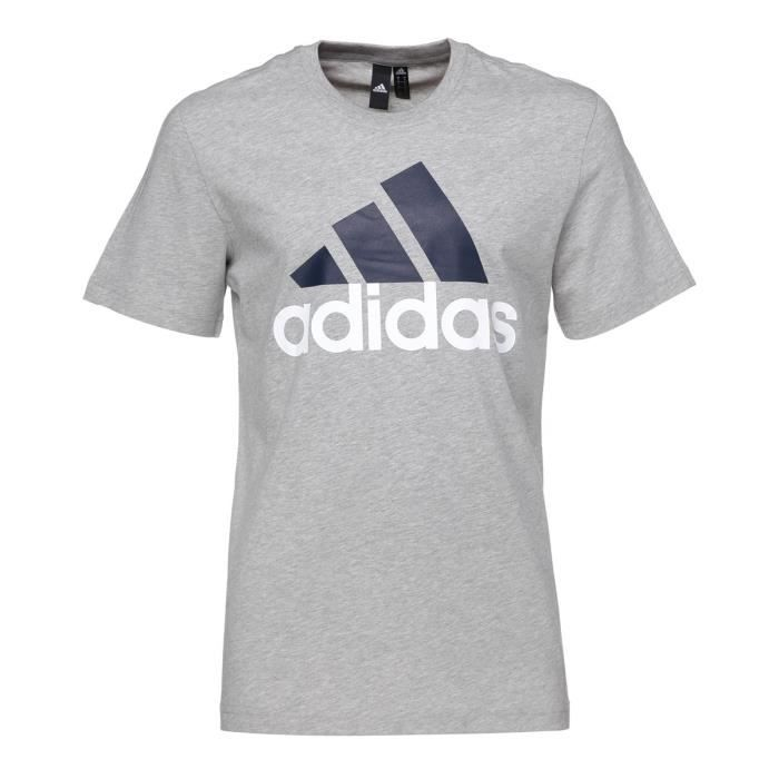 ADIDAS T-shirt Ess Linear - Homme - Gris