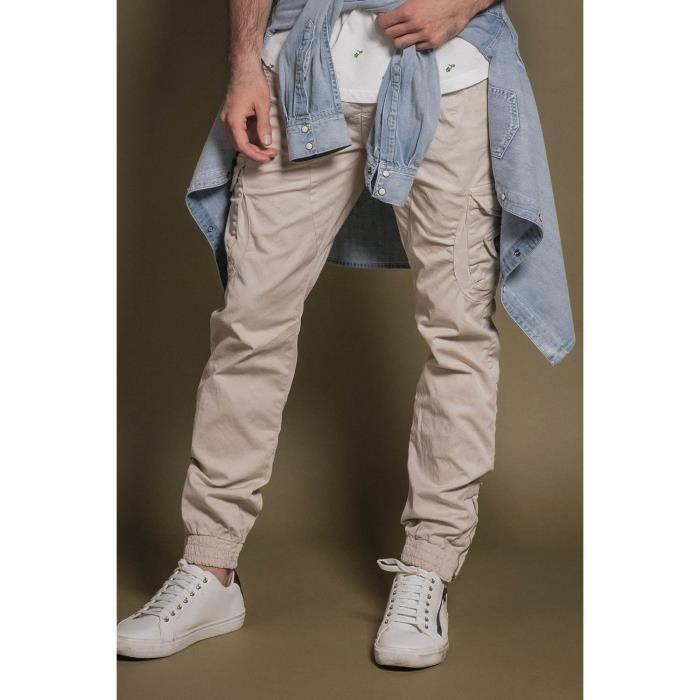 DEELUXE Pantalon slim cargo GARDEN Clay
