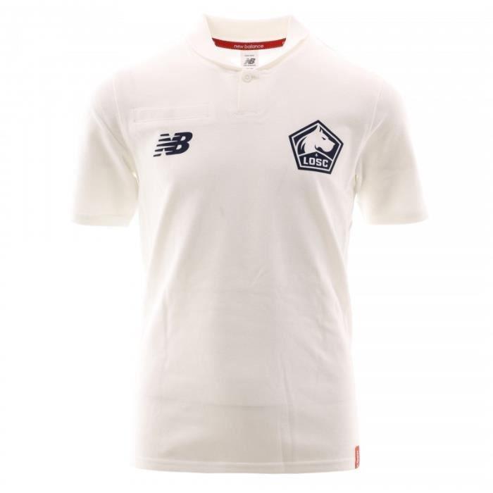 LOSC Polo Blanc Garçon Football New Balance