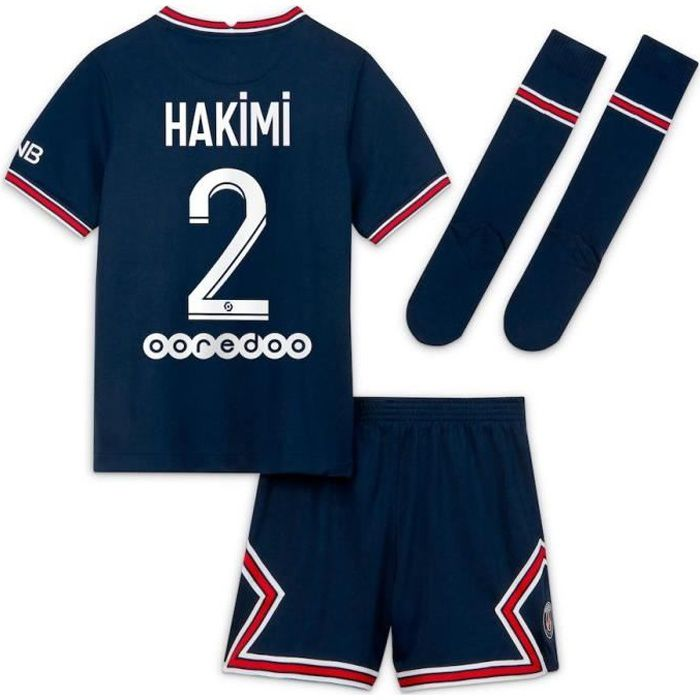 Maillot de football -Maillot de Formation Achraf Hakimi -Equipe de Paris -numéro 2