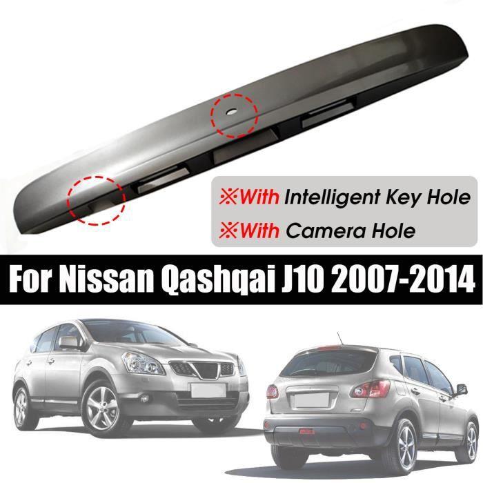 NEUFU Poignée de couvercle de coffre de hayon Auto avec clé intelligente trou de caméra pour Nissan Qashqai J10 07-14 Gris