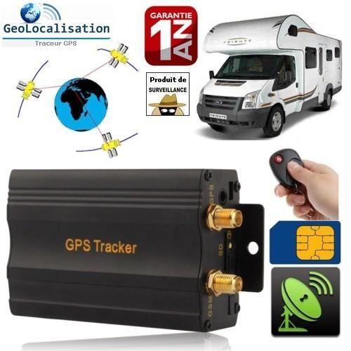Traceur GPS, GSM, GPRS avec coupe-carburant et circuit