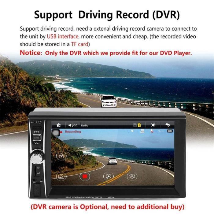 7 pouces lecteur autoradio MP5 écran tactile dvd 2 din voiture audio lecteur de musique