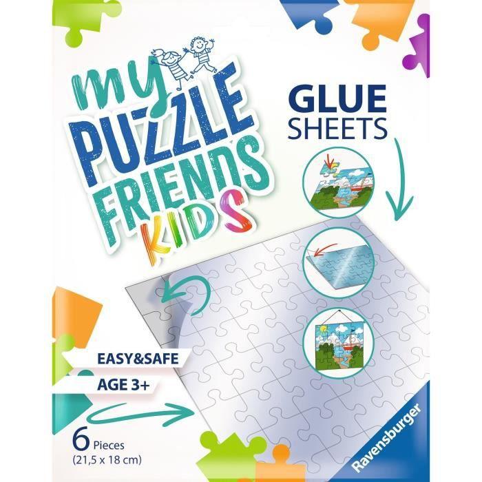 Ravensburger - Accessoire puzzle Enfants ou Adultes - 6 Feuilles adhésives pour puzzles jusqu'au 500p - Utilisable dès 3 ans - 13301
