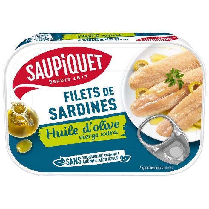 SAUPIQUET Filets de sardines à l'Huile d'olive - 100 g